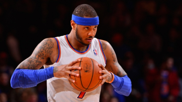 Carmelo and the Knicks: Not a Threat This Season (Photo Courtesy of David Dow NBAE via Getty Images